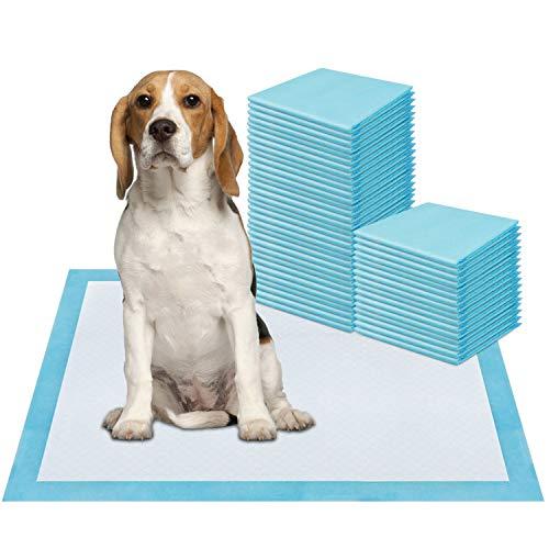 ZSTKEKE Welpenunterlage Trainingsunterlagen für Haustier, 50 Stück, 60 x 45cm, Super saugfähig, Hunde Welpen…