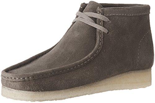 CLARKS Men's Wallabee Boot Grey Suede 10 D US (Wallabee Clarks Originals Boot)