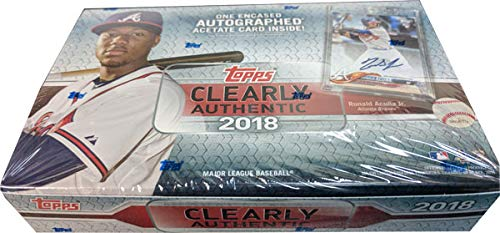 Amazoncom 2018 Topps Clearly Authentic Baseball Hobby Box 1 Pack