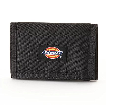 Dickies  Men's  Trifold Wallet,Black Fabric