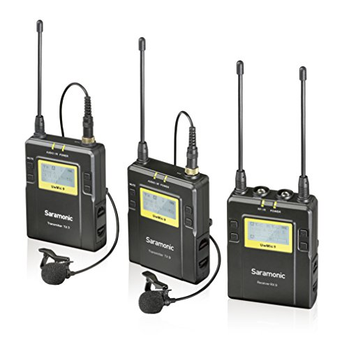 Saramonic UwMIC9 96-Channel Digital UHF Wireless Dual Lavalier Microphone System, Includes 2x TX9 Bodypack Transmitter and RX9 Portable Receiver by Saramonic