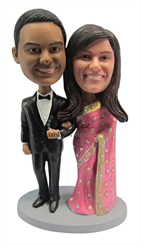 Buy Custom Bobblehead Couple in Traditional Outfiit Online at Low Prices in  India - Amazon.in