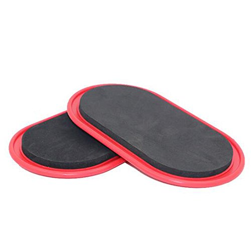 Genmine Sport Core Sliders Exercise Sliders Gym Training Gliding Discs Fitness Slide Discs Core Fitness Slider For Hard Floors and Carpet Full Body Workout, Compact for Travel or Home by Genmine