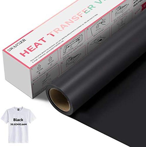 Lámina flexible de 30,5 cm × 3,66 m, lámina de plóter textil para Cricut y Silhouette Cameo, utilizada en ropa de camisetas y otros materiales (negro): Amazon.es: Amazon.es