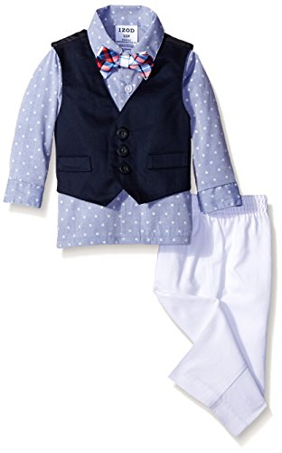 Solid Twill Vest Set Bow
