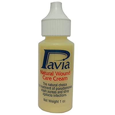 Pavia Natural Wound Care Cream w/ Bee Propolis--Nature's Antibiotic. Soothing balm kills bacteria, reduces swelling, helps heal hot spots, mange, ear infections, scrapes, sores, cracked hooves. 1 oz.