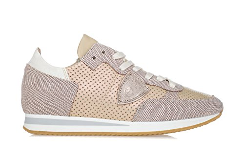 'Tropez' Sneakers Gold Leather Philippe Women's Perforated Model Shoes HngOg7Z