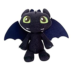 """DreamWorks Dragons Defenders of Berk - Squeeze & Growl Toothless, 11"""" Plush with Sound FX"""