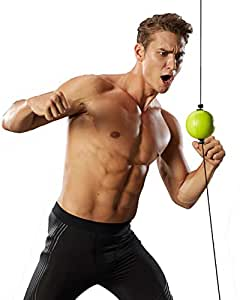 holylife Boxing Reflex Ball Double End Boxing Speed Ball Adjustable Height PU Punch Training Fitness Sports