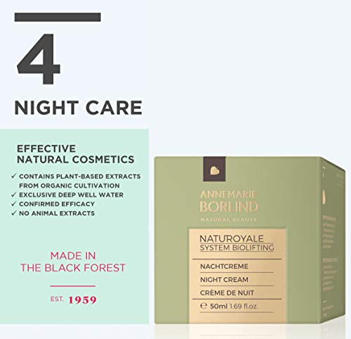 41gi782qIiL - ANNEMARIE BÖRLIND - NATUROYALE Night Cream - Sustainable Natural Anti-Aging Face Night Cream for a Fresher, Smoother and Tighter Skin with a New, Youthful Glow - Step 4 of 5 - 1.69 oz.