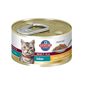 Hill's Science Diet Adult Indoor Cat Entree Minced Cat Food, 24-Pack
