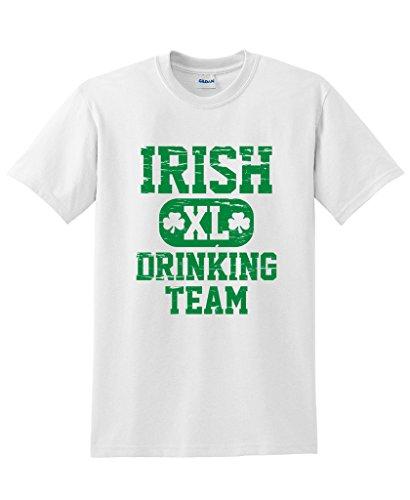 Irish Drinking Team Paddy Patty Patrick St. Patrick Day T Shirt 2XL White
