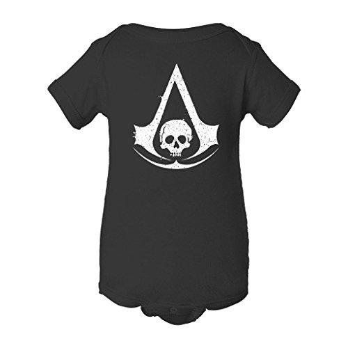 Assasin's Creed Black Flag Logo Grunge Baby BodySuit