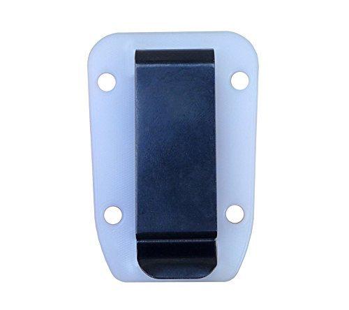 ESEE Clear/White Clip Plate for Candiru Molded Sheath by ESEE [並行輸入品] B01KKDW14Y