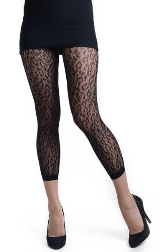 Fashion Mic Womens Nylon Spandex Footless Free Size Black Fishnet Pantyhose (free size, (Lycra Fishnet Pantyhose)