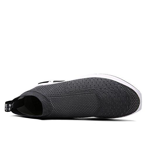 Corsa Sneakers Donna Uomo Grigio Running All'aperto Da Sport Casual Mesh Respirabile Fitness Scarpe Leggero Ginnastica vqT1Bwxnwt