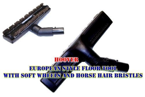 Hoover WindTunnel Canister European Style Soft Natural Bristle Floor Tool With Soft Wheels.With Locking Knob. (Soft Natural Bristles Floor Tool)