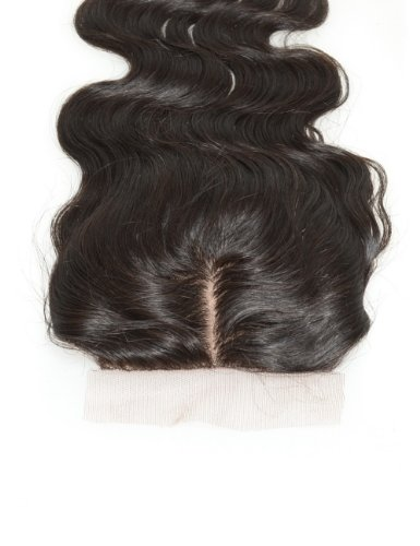 New Star Brazilian Dark Brown Virgin Hair Body Wave Silk Base Lace Closure, Middle Part - 16 Inch