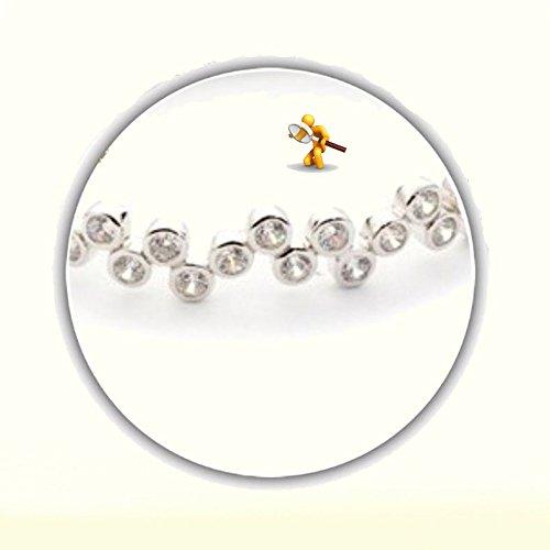 Balle de tennis Argent 925/1000oxyde de zirconium style bracelet à charnière Ouverture avec double fermetures