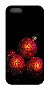 08 20 Christmas Wreath Transparent Clipart TPU Case Cover for iphone 4s and iphone 4s Black New Year gift