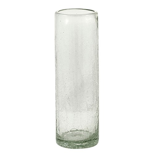 Vivaterra Maya Recycled Glass Vase - Tall - 12 H x 4 Dia - Clear