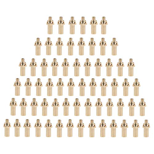 Flameer 64Pcs Brass Replacement Tip/Jet Camping Cooking Stove Nozzle for Propane Gas by Flameer (Image #3)