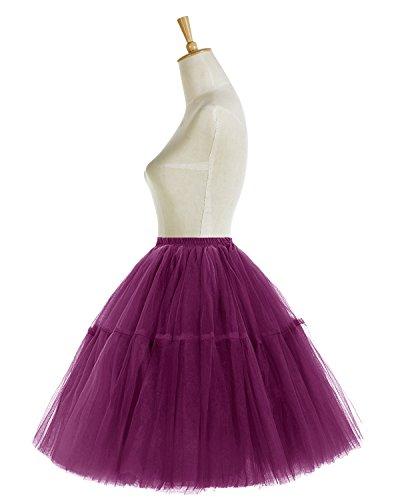 Bridesmay Ballet Grape Jupe Couches Vintage Tulle Tutu en 50 annes varies 5 Couleurs AqAx75rf