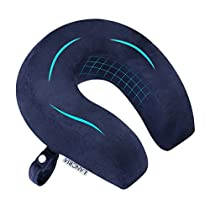 LANGRIA U Shaped Travel Pillows with Memory Foam Filling Snap Closure,Multifunctional Sleeping for Airplane,Train, Car, Video Watching, Napping, Reading ¡­