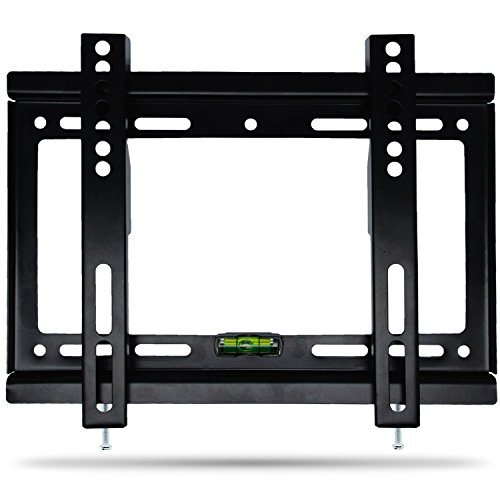 LCD LED Plasma Wall Mount Costech Slim Low Profile 14-42 inch Corner Flat Screen Monitor TV Display Bracket MAX Vesa 200200mm Load Capacity 55LB Bubble Level included