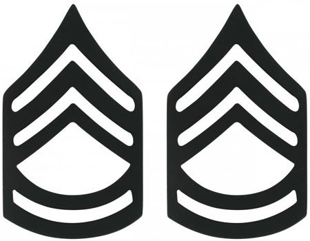 - Subdued Sergeant First Class Insignia Set