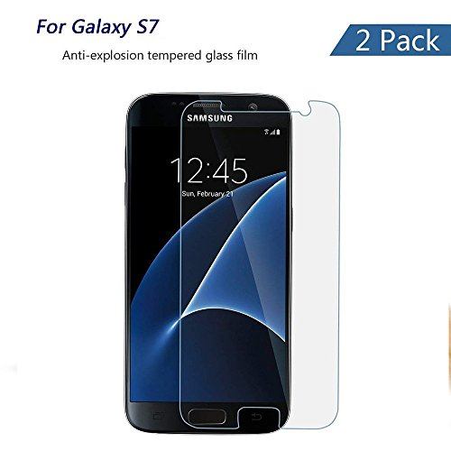 for Samsung Galaxy S7 Tempered Glass Screen Protector[2-Pack],mazdoma[Anti-Fingerprint][No Bubble][HD Ultra Clear][Easy to Install][Anti-Scratches] Glass Screen Protector for Galaxy S7