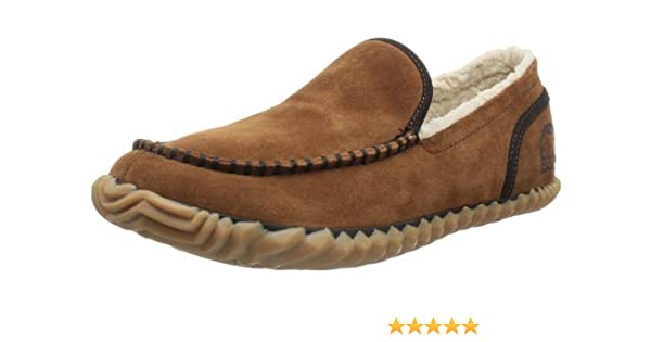 Amazon.com | SOREL Mens Dude Shoe (7.5 D(M) US/40-41 EUR, Grizzly Bear) | Loafers & Slip-Ons