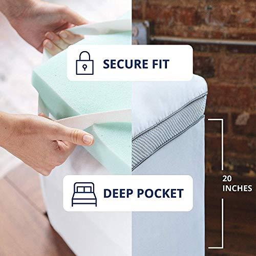 ViscoSoft 4-Inch Pillow Top Memory Foam Mattress Topper
