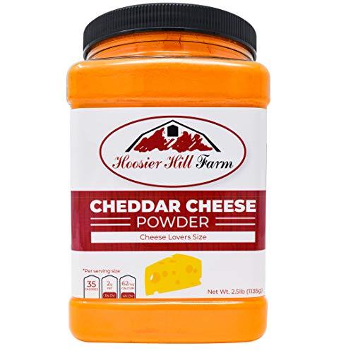 Hoosier Hill Farm Cheddar Cheese Powder, Cheese lovers 2.5 lb. size