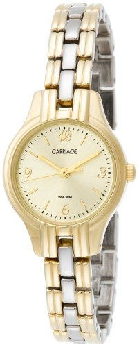 (Carriage by Timex Women's C3C382 Two-Tone Round Case Champaign Dial Two-Tone Bracelet Watch)