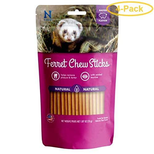 N-Bone Ferret Bacon Flavor Chew Treats, 7.48 oz