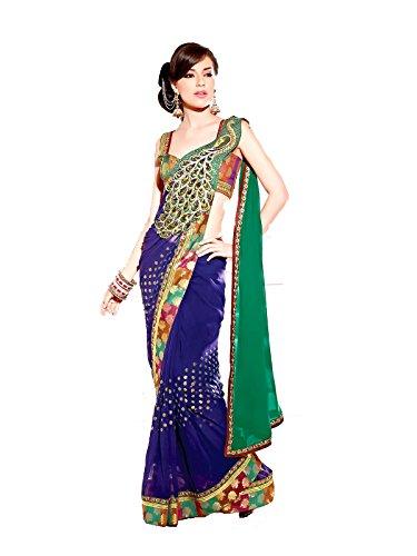 Wear Sarees Saree Party Peacock Stitched Designer Jay Pallu qAtUf8U