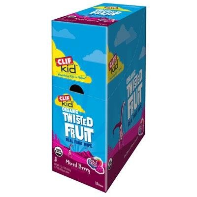 Clif Kid Twisted Fruit Ropes, 18 Count