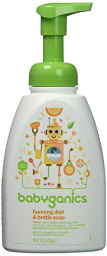 BabyGanics Foaming Dish and Bottle Soap, Citrus, 16 Ounce (Pack of 3) (Babyganics Dish)