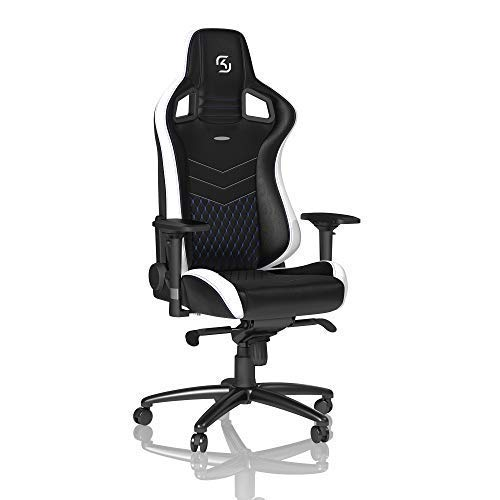 noblechairs Epic Gaming Chair - Office Chair - Desk Chair - PU Leather - SK Gaming Edition - Black/White/Blue