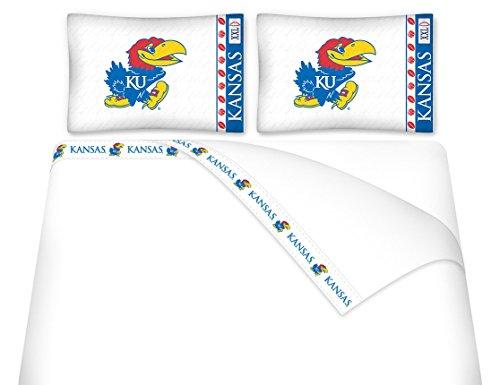 University of Kansas Microfiber Sheet Set (Twin)