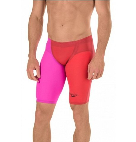 Speedo Men's LZR Racer Elite 2 High Waist Jammer - 28 - Lava (Mens Lzr Racer)