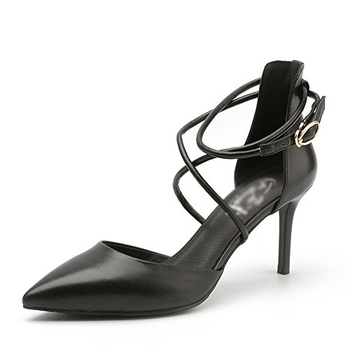 7cm Heels o Moda Spring Color A 5 UK5 Rosa EU38 Negro High Tama B Beige CN38 xR55XqnTS