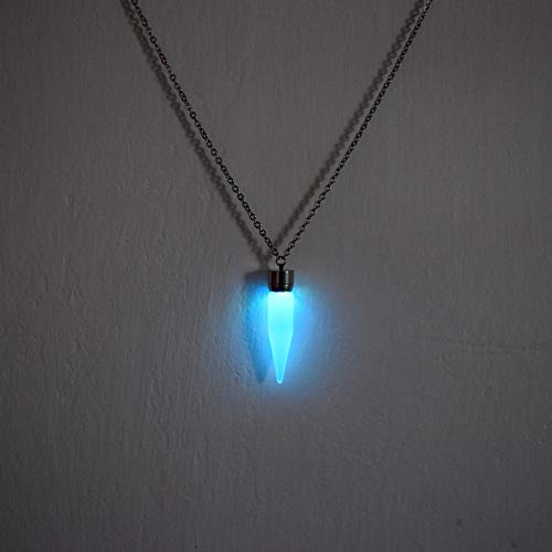 Led Crystal Necklace (Multicolor LED Light up Glow Pendant Cone Necklace - Glow Cone)
