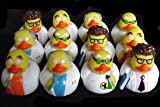 : One Dozen (12) Rubber Duck Duckie Ducky MAD SCIENTIST Party Favors