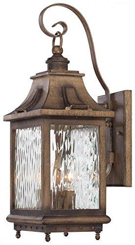 Minka Lavery 72112-149, Wilshire Park Aluminum Outdoor Wall Sconce Light, 225 Watts, Bronze