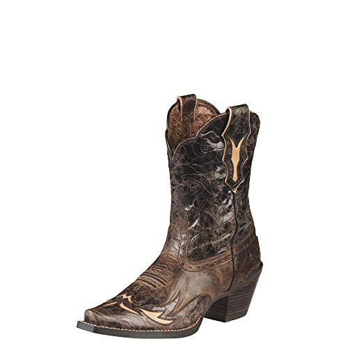 (Ariat Women's Dahlia Boots Silly Brown/Chocolate Floral 7.5 C)