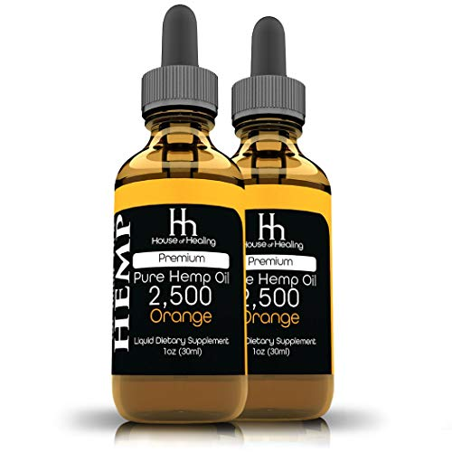 House of Healing Hemp Oil for Pain & Anxiety Relief – (2 Pack) 2500mg – 5,000mg Total – Organic Hemp Oil – May Help with…