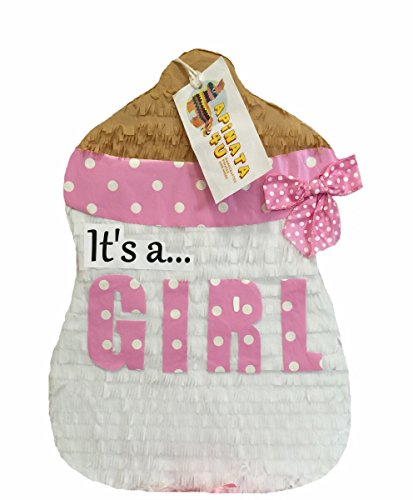 APINATA4U Its a Girl Baby Bottle Pull Strings Pinata]()