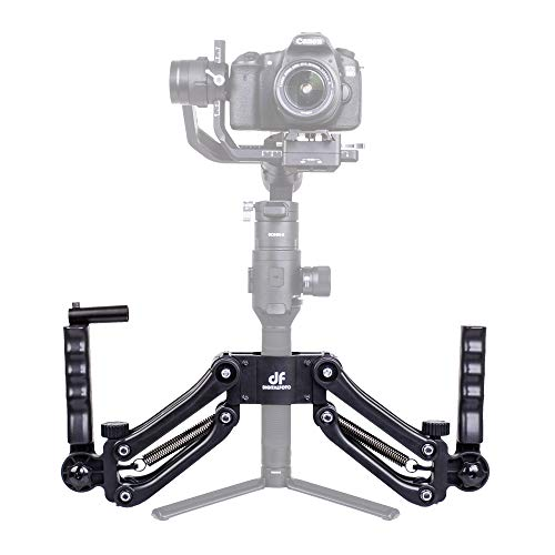 - DIGITALFOTO DH04 Z Axis Flexiable Damping Spring Dual Handle Grip Bracket Holder Compatible for ZHIYUN Crane 2/Plus/V2 MOZA FEIYU DJI Ronin S Smartphone Gimbal Smooth 4 OSMO 2 Freefly 3 Axis Gimbal